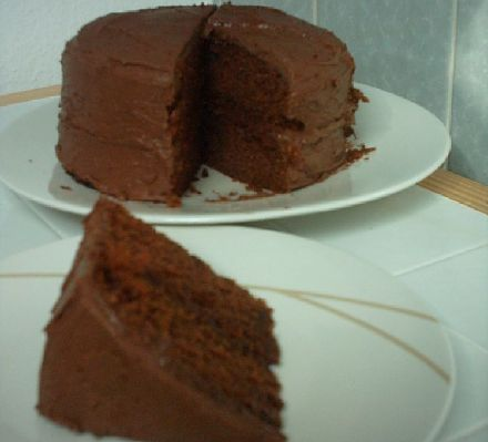 Naughty chocolate fudge cake